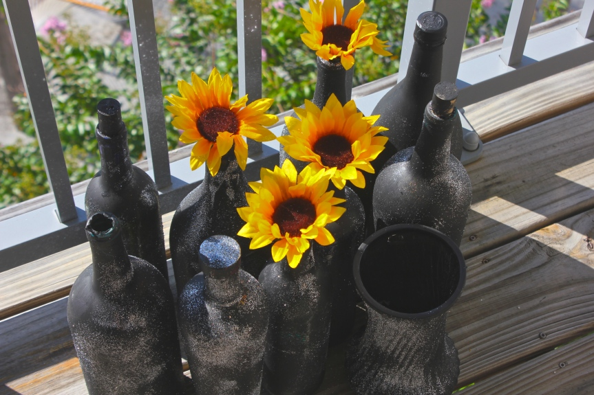 DIY Sparkle Vases